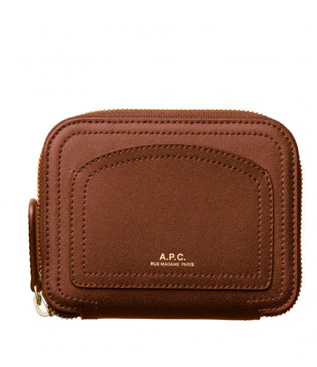아페쎄 A.P.C. Louisette compact wallet,Nut brown