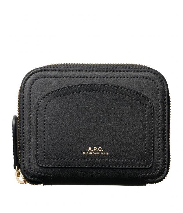 아페쎄 A.P.C. Louisette compact wallet,BLACK