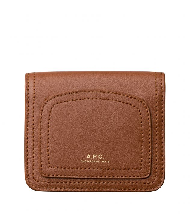 아페쎄 A.P.C. Louisette coin purse,Nut brown