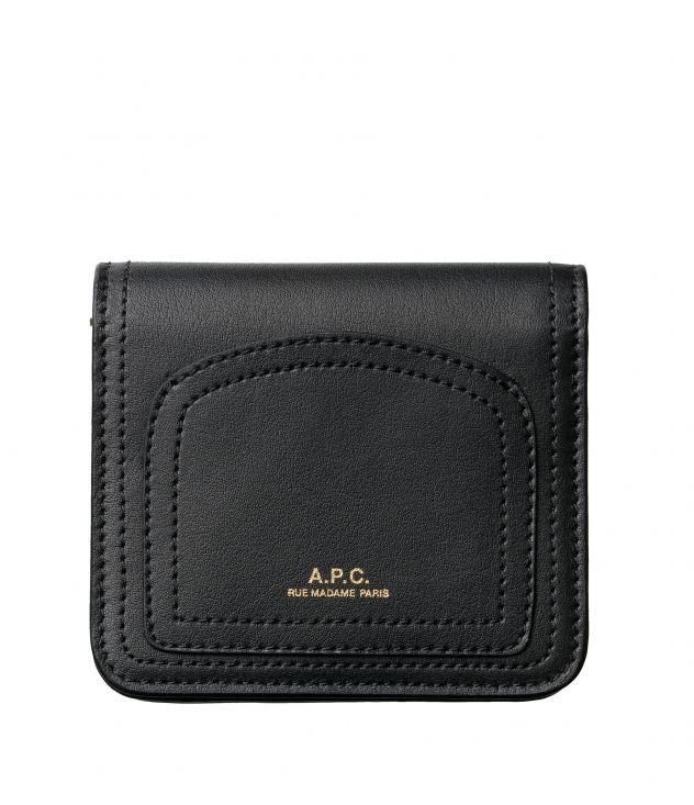 아페쎄 A.P.C. Louisette coin purse,BLACK