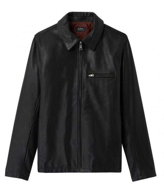 아페쎄 옴므 자켓 A.P.C. No Fun jacket,BLACK