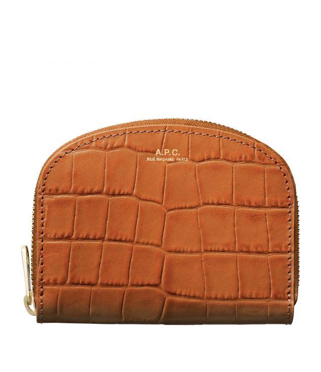 아페쎄 하프문 반지갑 - 카라멜 A.P.C. Demi-Lune compact wallet,CARAMEL