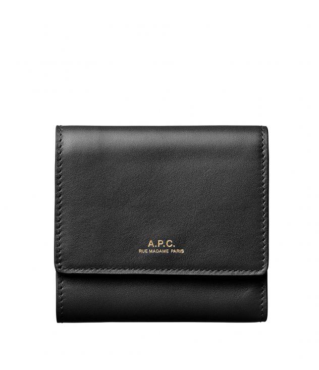 아페쎄 A.P.C. Lois compact wallet,Black