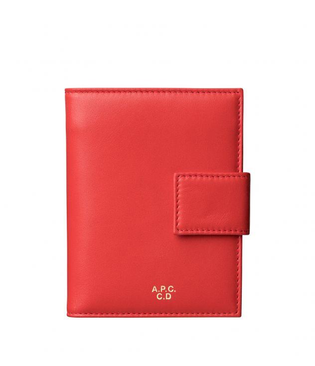 아페쎄 A.P.C. Marguerite compact wallet,Red
