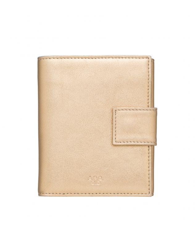 아페쎄 A.P.C. Marguerite compact wallet,Goldtone