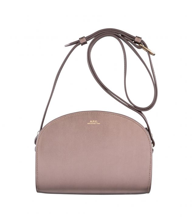 아페쎄 하프문백 미니 A.P.C. Demi-Lune Mini bag,Frosted chestnut brown