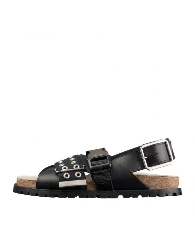 아페쎄 X 사카이 샌들 여성용 - 블랙 A.P.C. X SACAI Jules sandals W