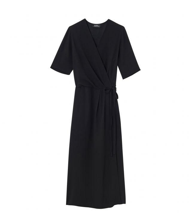 아페쎄 마틸다 랩 원피스 A.P.C. Mathilda dress,BLACK