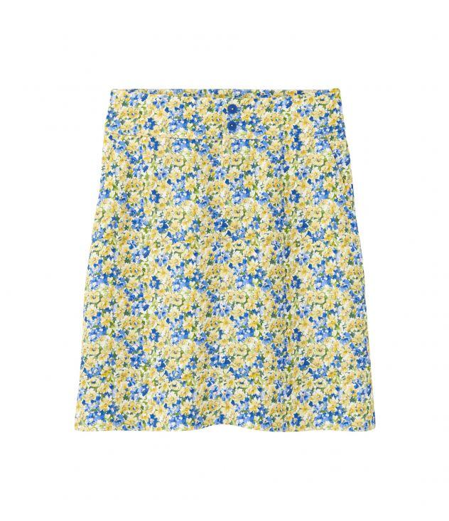 아페쎄 크리스타 스커트, 플로럴 패턴 - 페일 옐로우 A.P.C. Christa skirt Viaho-f06298