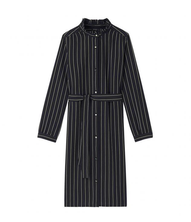 아페쎄 원피스 A.P.C. Christina dress,Dark navy blue