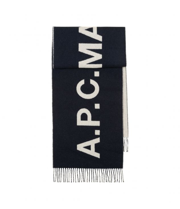 아페쎄 A.P.C. Angele scarf,DARK NAVY BLUE