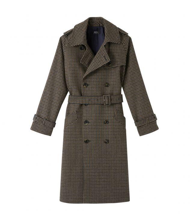 아페쎄 그레타 트렌치 코트, 플레이드 - 다크 베이지 (소희 착용) A.P.C. Greta trench coat